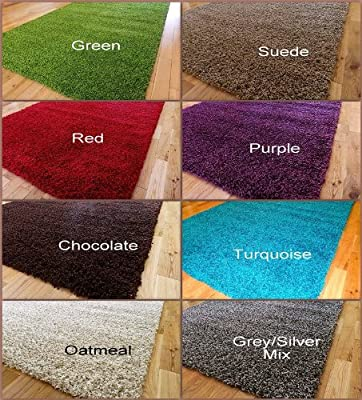 SMALL EXTRA LARGE RUG NEW MODERN SOFT THICK SHAGGY RUGS NON SHED SHAG CIRCLE MATS ***(4 sizes & choice of colours)***