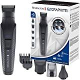 Remington G2 Graphite Series Recortadora de Barba y Cortapelos - Inalámbrico, Revestimiento de Grafito, 5 Accesorios, Autonom