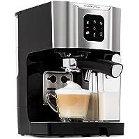 Klarstein BellaVita - Cafetière, 1450 watts, Pression de 20 bars, Expresso, Cappuccino, Latte macchiato, Réservoir 1,4 litres, Mousseur à lait, Buse amovible, Gris