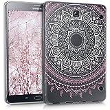 kwmobile Funda transparente para Samsung Galaxy Tab S2 8.0 carcasa de silcona TPU para tablet funda protectora con Diseño sol indio en rose clair blanc transparent