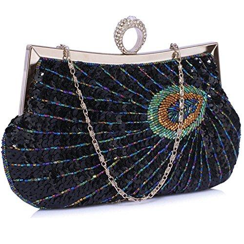 L And S Handbags, Poschette giorno donna Black