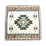 90x 90cm Azteken Navajo Decke klein Teppiche gewebte Baumwolle Tribal Wandbehänge Decor Bohemian Überwurf