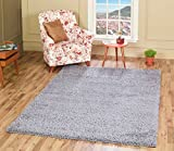 A2Z RUG SOFT SUPER THICK SHAGGY RUGS Silver 120X170 CM -3'9''X5'5'' FT AVAILABLE IN 6 COLOURS AND 12 SIZES AREA RUGS