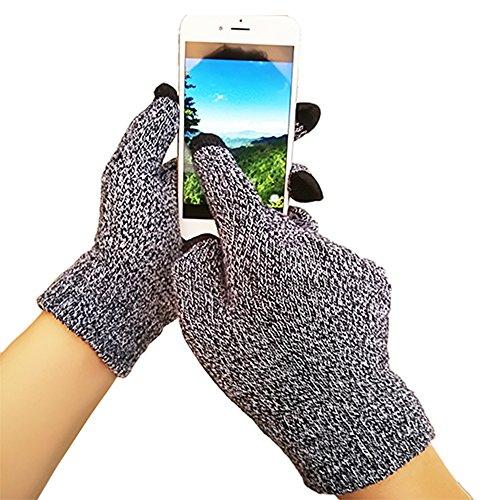 iEverest Unisex Touchscreen Handschuhe Anti-Rutsch-Handschuhe Lover Handschuhe dicke Handschuhe Smartphone Touchscreen Handschuhe für das Fahren und Telefonieren im Freien Winddicht--Schwarz weiß
