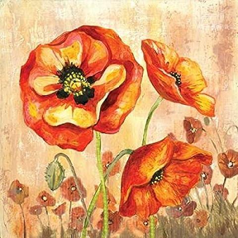 Gregory Gorham – Big Red Poppies II Kunstdruck (60,96 x 60,96 cm)