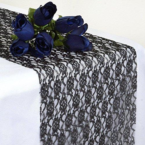 eit 30,5x 274,3cm Spitze Tischläufer für Hochzeit Bankett decorr Tischläufer Spitze, schwarz, 1 (Black Lace Tischläufer)