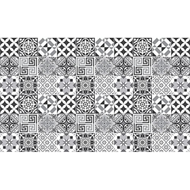 60 Stickers adhésifs carrelages | Sticker Autocollant Carrelage - Mosaïque carrelage mural salle de bain et cuisine | Carrelage adhésif - nuance de gris élégants - 10 x 10 cm - 60 pièces Ambiance-Live AHGRD015231