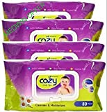 #5: COZY BABY WIPES 80 Sheets [4 Packs]