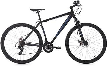 KS Cycling Erwachsene Mountainbike Hardtail Twentyniner Heist RH 51 cm Fahrrad, schwarz/Blau, 29 Zoll