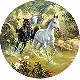 Puzzle 1000 Teile Pferde (Horse in Mt. Brook) Rundpuzzle