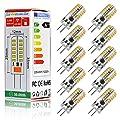 Swees® 10er-Pack G4 LED Lampe 12V AC/DC 2.5W (Ersetzt 20W) [Warm-Weiß - 48 x 3014 SMD LED Leuchtmittel - 360° Abstrahlwinkel] von Swees - Lampenhans.de