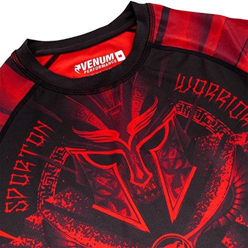 Venum Herren Gladiator 3.0 Kurze Ärmel-Rashguard Schwarz/Rot