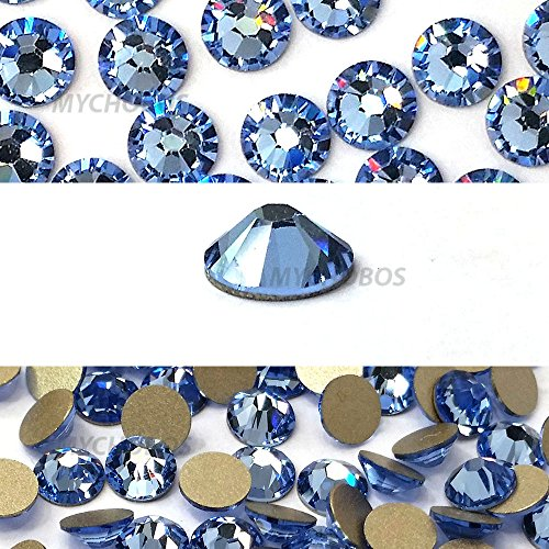 LIGHT SAPPHIRE (211) blue Swarovski NEW 2088 XIRIUS Rose 20ss 5mm flatback No-Hotfix rhinestones ss20 144 pcs (1 gross) *FREE Shipping from Mychobos (Crystal-Wholesale)* -