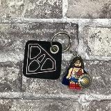 Schlüsselanhänger Superwoman personalisiert mit Initial, Geschenk Mama Lehrerin Erzieherin