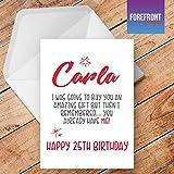 personalisierbar Funny I Got You A Karte Spoof Geburtstag Grußkarte–Texten für jede Gelegenheit oder Event–Geburtstag/Weihnachten/Hochzeit/Jahrestag/Verlobung/Vatertag/Muttertag