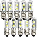 MENGS® 10 Stück E14 1W LED Lampe 7x5050 SMD LEDs Leuchtmittel & Birne (100LM, AC 220-240V, Kaltweiß 6500K, 120º Abstrahlwinkel, Ø15×48mm) Energiespar licht