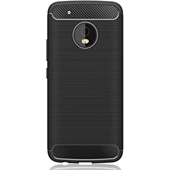 IVSO Moto G5 Case Soft Silicon Shockproof Luxury Brushed Case with Texture Carbon Fiber Design Protection Cover for Motorola Moto G5 Smartphone,Black