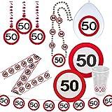 NET TOYS Cinta de contención 50 cumpleaños señal de tráfico B