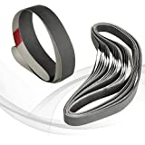 Sanding Belt 100 Grit Aluminum Oxide 12pcs sourcing map 1-inch X 42-inch 25mm X 1065mm