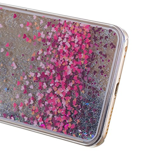 iPhone 7 Hülle Transparent,iPhone 7 Hülle Glitzer,iPhone 7 Case Slim,Schutzhülle Für iPhone 7 Hülle Transparent Hardcase,EMAXELERS 3D Kreative Liquid Bling Kristall Glitzer Hülle Case Für iPhone 7,iPh Heart Dandelion 1