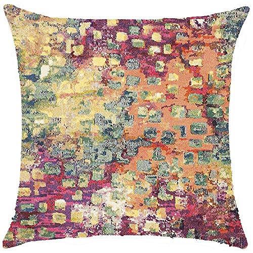 A-S-a Monaco Moderne abstrakte Aquarell Pink Polyester Throw Pillow Covers Fall Kissenbezug Sofa dekorative quadratische 18 x 18 Zoll -