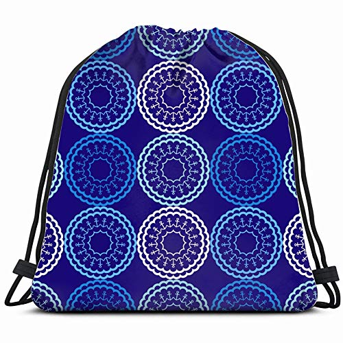 DD Decorative Art Hey Sailor Blue Nature Drawstring Backpack Gym Sack Lightweight Bag Water Resistant Gym Backpack for Women&Men for Sports,Travelling,Hiking,Camping,Shopping Yoga - Hey Sailor