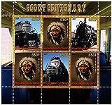 Tren sellos para coleccionistas - centenery Scout - 6 sellos de colección que ofrece trenes - Ideal para la recogida - excelentes condiciones - sin charnela - Stampbank - amazon.es