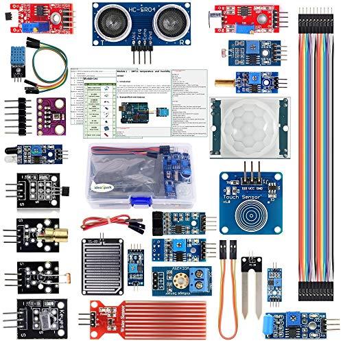 ideaspark Arduino Sensor Kit Raspberry Pi Modulo 22-in-1 per Arduino Uno R3 Mega 2560 Nano Smart Home IoT Starter Learning Starter Kit (Tutorial Inglese)
