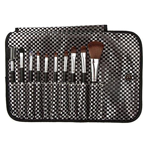 LianLe®Set de pinceaux 10 PCS complets maquillage cosmétique à Lèvre avec une pochette