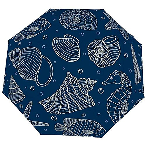 Paraguas Plegable Náutica Océano Habitantes Paraguas