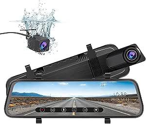 J Junsun Spiegel Dash Cam Backup Kamera 10 Zoll Elektronik