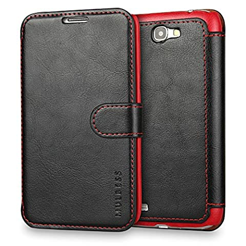 Coque Galaxy Note 2,Mulbess [Credit Card Slot Vintage Series] Housse