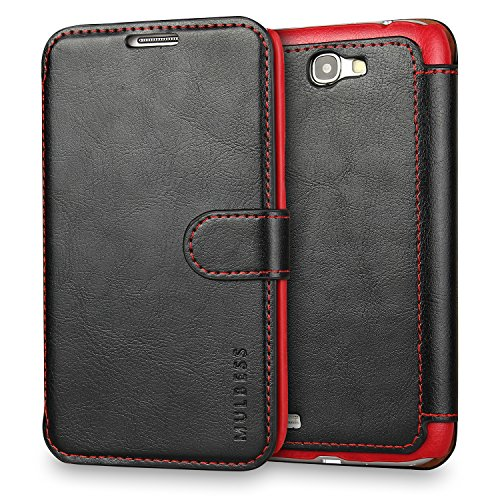 Custodia Galaxy Note 2 - Cover Galaxy Note 2 - Mulbess Custodia In Pelle Con Flip Cover Per Samsung Galaxy Note 2 Custodia Pelle Nero