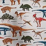 Nutex Nu179 Stoff mit Dinosaurier-Motiv, 100% Baumwolle,