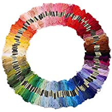 100 X Mix Colors Cross Stitch Cotton Sewing Skeins Embroidery Thread Floss Kit (HM0001)