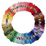 100 Docken Sticktwist Stickgarn 8m 6-fädig Multicolor farblich BUNT DIY Sticken