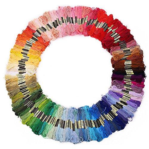 Lot de 100 Echevettes de Fils Multicolores Pour Broderie Point de Croix Tricotage Bracelets Brésiliens