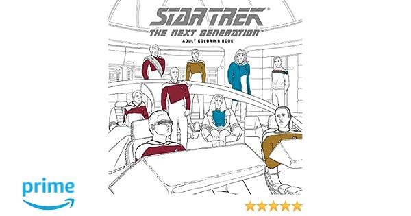 Star Trek: The Next Generation Adult Coloring Book: Amazon.de: CBS ...