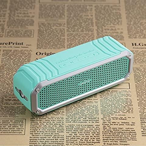 Bluetooth Speaker, COMISO [Max Audio] - Portable Bluetooth Outdoor Speaker with Torch Flashlight and Microphone, Wireless Subwoofer Speaker with 10W Drivers Bass 12 Hour Playtime - (Mint Green)