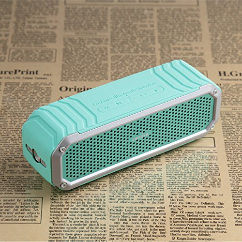 Altoparlante Bluetooth COMISO [Max_Audio] Portatile Microfono Speaker 4.0 Impermeabile Antipolvere Antigraffio Antiurto Amplificatore Duplice 5W (Cube 30 Amplificatore Per Basso)