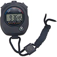 Ascension ® Digital Sports Waterproof Chronograph Day Timer Stopwatch with Compass, (Black)
