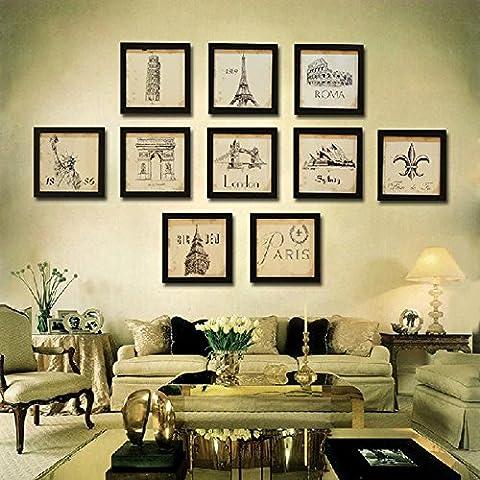 Cadre photo Motif bois massif simple et élégant Cadre photo