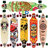 [Maronad.GCP]® Longboard Skateboard drop through Race Cruiser ABEC-11 Skateboard 104x24cm Streetsurfer skaten ARUBA LED Leuchtrollen