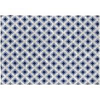 Rugs&Rugs Ontario Alfombra Decorativa Estampación Digital, Algodón, Azul/Gris, 120x170 cm