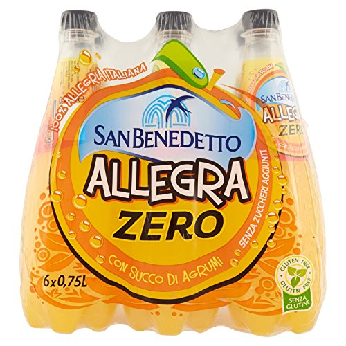 San Benedetto Bibita Analcolica Gassata al Succo dArancia senza Zuccheri 750 ml
