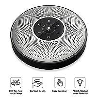 Bluetooth Speakerphone - eMeet M2 Wireless Conference Speakerphone Business Conferencing Call 26ft 360�? Far-field Voice Audio Pickup AI Self-adaptive Speakerphone Skype, Webinar, Phone, Call Center