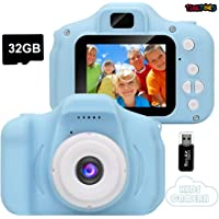 TiNiToeS Kids Camera,Mini Rechargeable Child Digital Camera Shockproof Video Camcorder Gifts for 3-8 Year Old Boys Girls,8MP HD Video 2 Inch Screen-for Outdoor Play