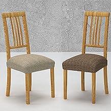 Pack de 2 Fundas de Asiento para Silla Modelo GOZO, Color MARRÓN C/3, Medida 40-50cm asiento