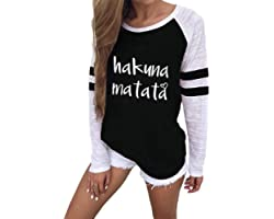 VONDA Womens T Shirts Long Sleeve Ladies Striped Baseball Tops Casual Summer Raglan Shirt Blouse