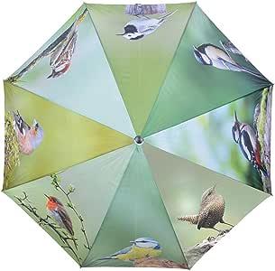 Metall und Holz Esschert Design Regenschirm Vögel aus Polyester